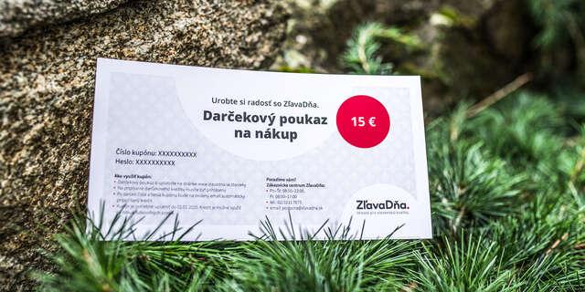 Darčekový poukaz na nákup na ZľavaDňa.
