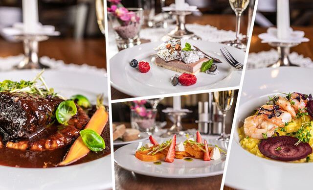 Romantické menu v reštaurácii Hradná hviezda v prostredí Bratislavského hradu
