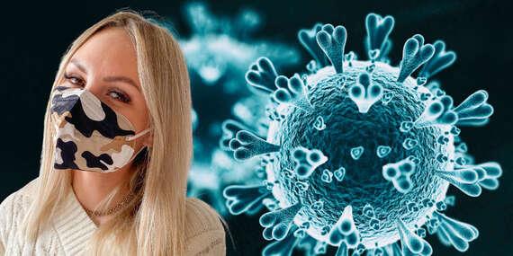 Maskáčový respirátor FFP2 bez výdychového ventilu s vysokou schopnosťou zachytiť vírusy a baktérie/Slovensko