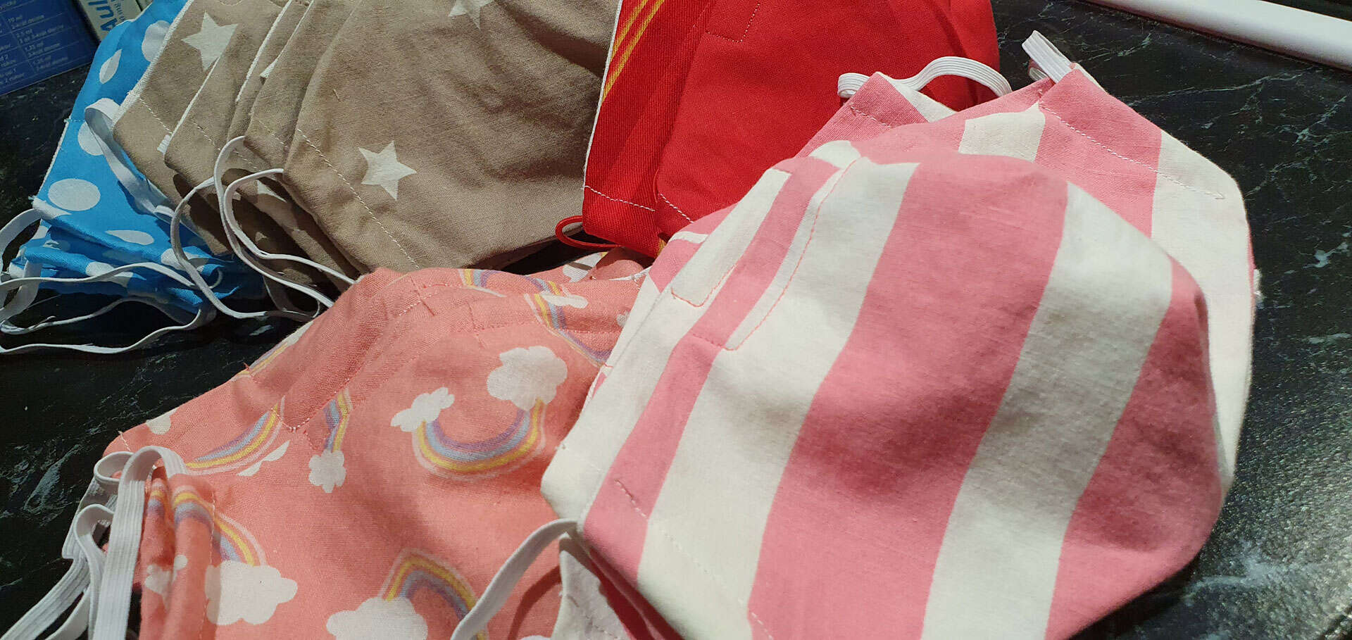 Bavlnené rúška s vreckom na filter pre deti aj dospelých