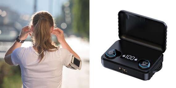 Bluetooth slúchadlá HD Stereo a powerbank 2v1/Slovensko