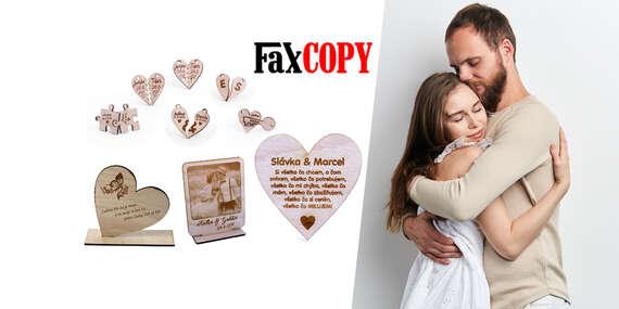 Štýlové darčeky s vlastným vygravírovaným motívom s osobným odberom ZADARMO až v 39 predajniach FaxCOPY/Slovensko