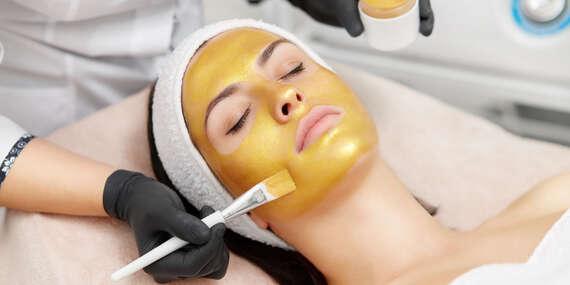 Čistenie pleti alebo zlatá terapia 24K zlatom s liftingovou masážou/Banská Bystrica