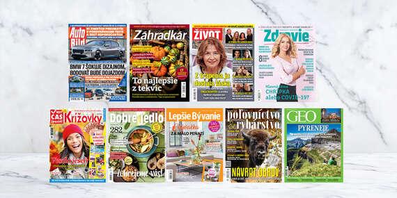 Ročné predplatné najobľúbenejších slovenských hobby titulov/Slovensko
