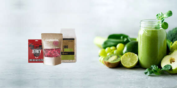 Zdravé produkty z GymBeam – beef jerky, maslá, musli, proteinely a lyofilizované ovocie/Slovensko