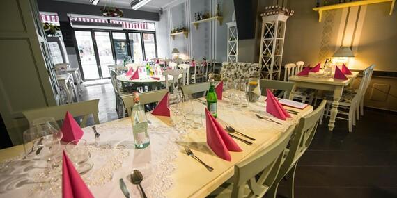 Talianske 5-chodové menu pre dvoch v reštaurácii Maximilián/Bratislava – Staré Mesto