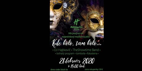 Maškarný ples v Holiday Inn Žilina – aj s možnosťou prespania, raňajok a vstupu do wellness/Žilina