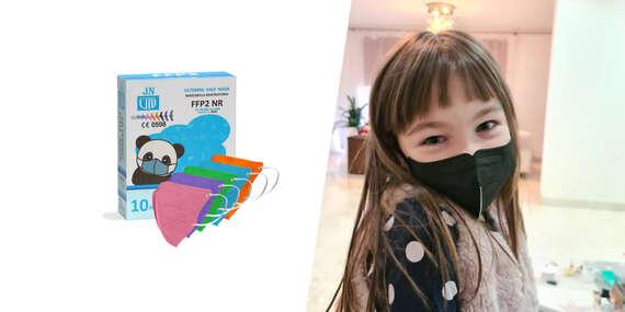 Farebné detské respirátory FFP2 bez výdychového filtra/Slovensko