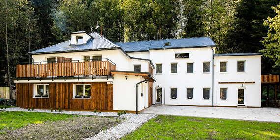 Novovybudovaný penzión Malino v lone prírody, so stravou a možnosťou privátnej vírivky / Liptov, Nízke Tatry, Veľká Fatra, Ružomberok