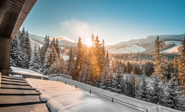 Zima s polpenziou a wellness v hoteli Ostredok*** len 50 m od lanovky v Jasnej