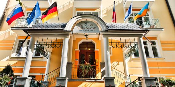 Lázeňská péče pro pány i dámy v Mariánských Lázních: Villa Savoy Spa & Wellness s plnou penzí a saunou bez omezení / Mariánské Lázně