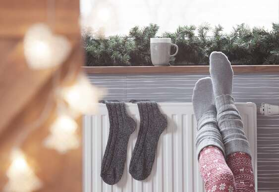 Teplučké ponožky z pravej ovčej vlny.