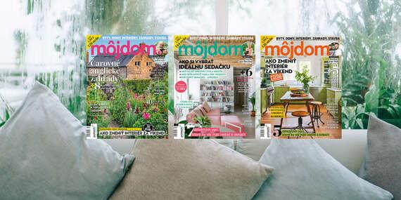 Ročné predplatné časopisu Môj dom - 11x časopis u vás doma/Slovensko