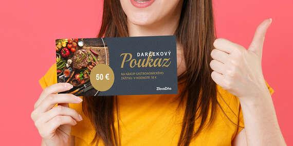 Darčekový poukaz ZľavaDňa na nákup gastro zážitku/Celé Slovensko