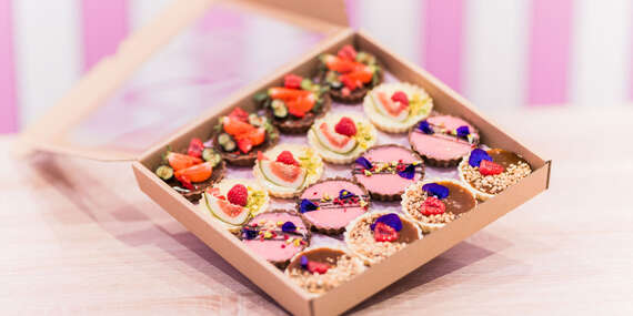 Tartaletkový box, sladký mix alebo mini mixík v darčekovom balení/Košice