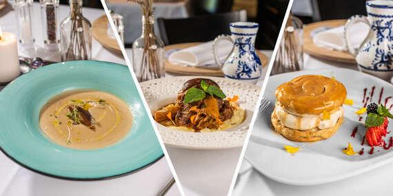 Obľúbené 3-chodové menu v reštaurácii Leberfinger na nábreží Dunaja / Bratislava – nábrežie Dunaja