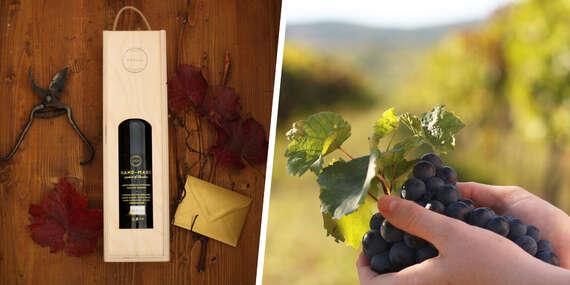 Daruj sadenie štepu a cuvéé víno v drevenej krabičke z vinárstva Merlaj z Pezinka/Slovensko