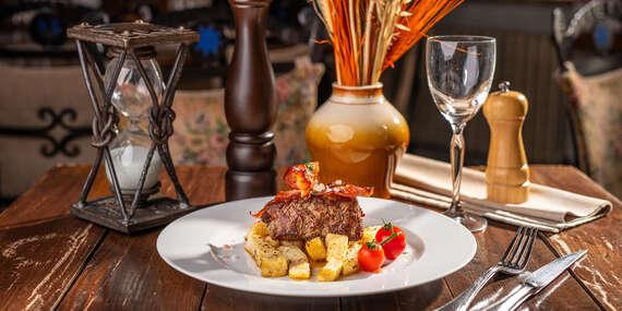 Výborné steaky v reštaurácii Modrá Hviezda, na výber 3 druhy/Bratislava - Staré Mesto
