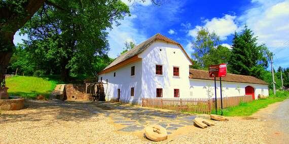 Všední dny na jižní Moravě v Porčově mlýně s polopenzí a vstupem do bazénu / Jižní Morava - Lysice