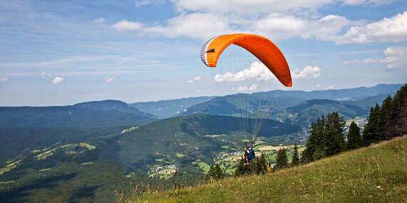 Rýchly kurz paraglidingu pre 1 alebo 2 osoby v krásnom prostredí Nízkych Tatier / Liptovský Mikuláš