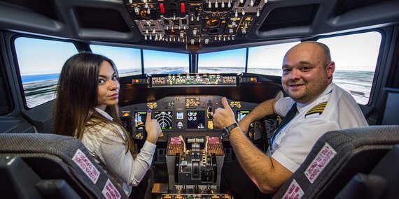 Limitovaný počet kupónov za najlepšiu cenu! Staňte sa pilotom Boeingu 737 na skúšku – v realistickom leteckom simulátore/Bratislava - Ružinov