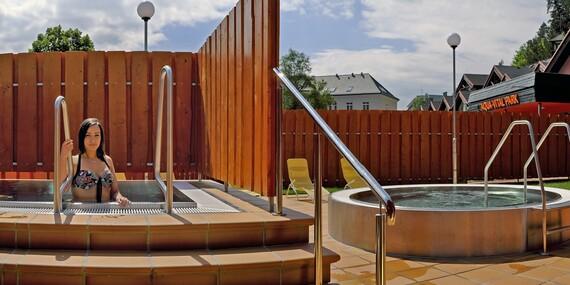 4-hodinový vstup pre dvoch alebo prenosná permanentka do liečivých vôd AQUA - VITAL Parku Lúčky/Liptov - Lúčky