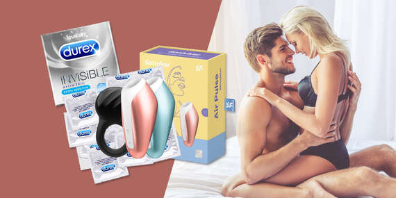 Mesiac plný slasti: 36 extratenkých Durex kondómov a značkové erotické hračky/Slovensko