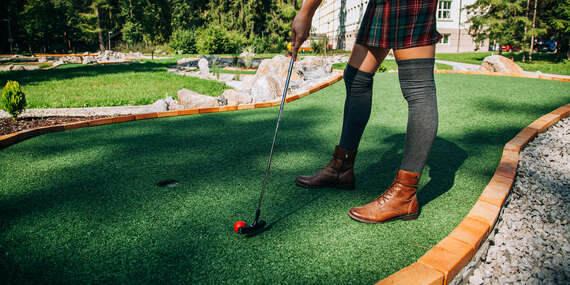 Adventure golf na 18-jamkovom ihrisku hotela Skalka***/Rajecké Teplice