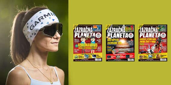 Ročné predplatné časopisu Zázračná planéta + funkčná čelenka Garmin / Slovensko