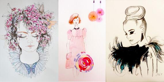 Jednorázový kurz impresionistickej maľby alebo fashion kresby / Bratislava - Petržalka