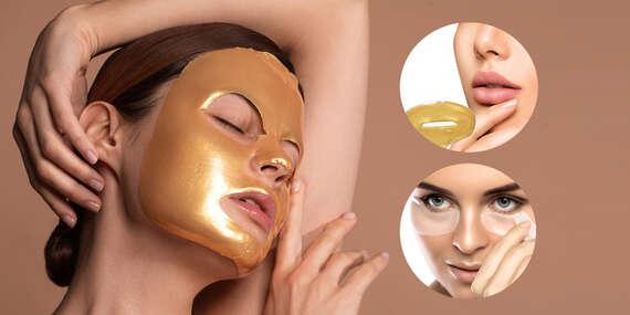Kolagénové masky na tvár s čiastočkami 24-karátového zlata a okamžitým omladzujúcim účinkom/Slovensko