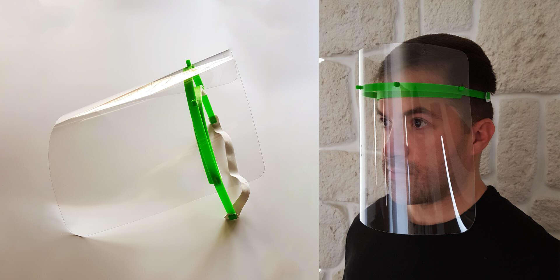 Vyrobené na Slovensku: Ochranný štít pre predavačov, kuriérov, lekárov a iných
