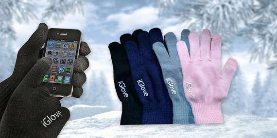 Praktické zimné rukavice prispôsobené na ovládanie mobilu/Slovensko