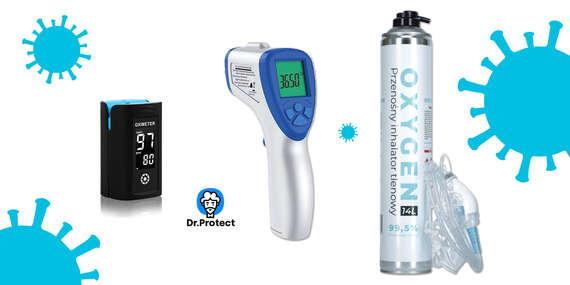 Pulzný oxymeter s Move-Oxy®, digitálny teplomer a prenosná kyslíková fľaša/Slovensko
