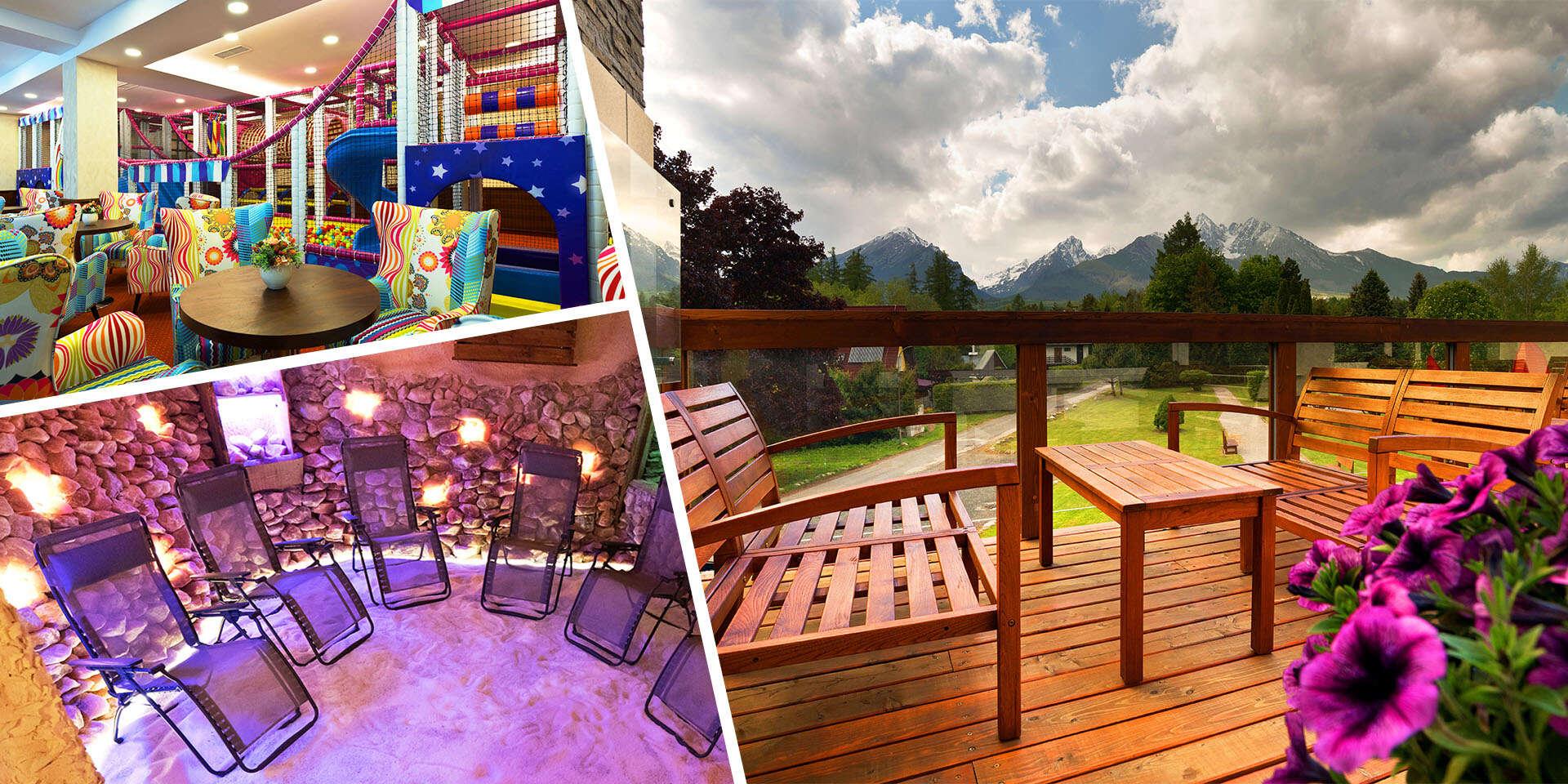 Hotel Lesana***: Tatry s výhľadom na Lomnický štít, wellness, polpenziou a vstupom do Kinderlandu