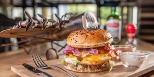 Kurací burger v Beer Arene na Šancovej