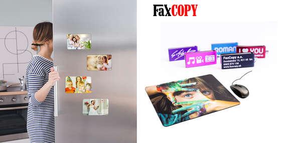Exkluzívne hliníkové fotomagnetky, podložka pod myš a USB s vašou fotografiou s osobným odberom ZADARMO až v 40 predajniach FaxCOPY/Slovensko