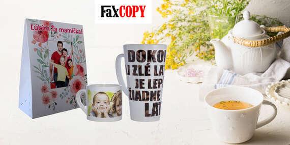 Originálne hrnčeky alebo sypaný čaj s vlastným motívom, osobný odber ZADARMO až v 40 predajniach FaxCOPY/Slovensko