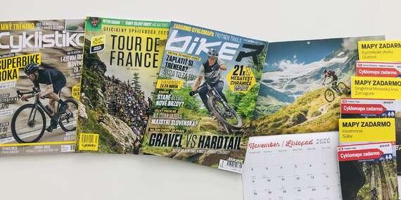 Ročné predplatné časopisov Biker a Cyklistika s cyklomapami zadarmo/Slovensko