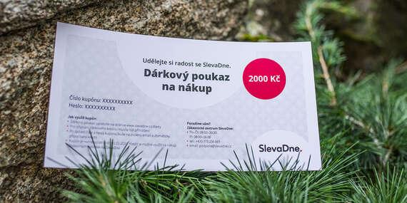 Dárkový poukaz na nákup na SlevaDne/ČR