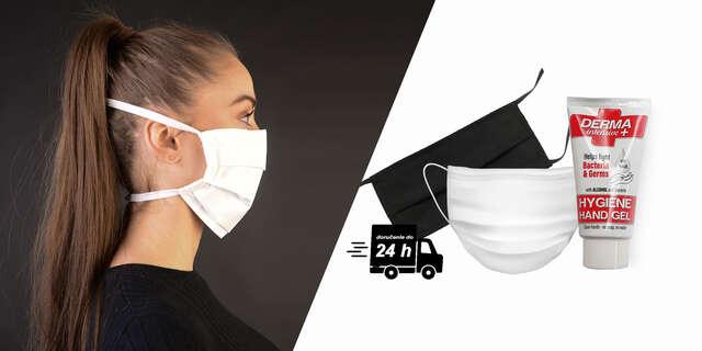 Certifikované alebo ochranné rúško či antibakteriálny gél