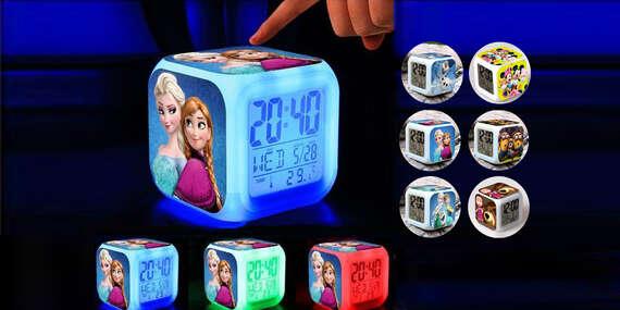 LED svietiace detské hodiny s budíkom a teplomerom (13 typov)/Slovensko