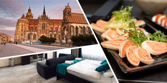 Ubytovanie v Hoteli Crystal*** v izbách Business Deluxe s bohatými raňajkami, proseccom a ovocnou misou / Košice