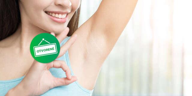 Redukcia nadmerného potenia aplikáciou účinnej látky do 15 minút