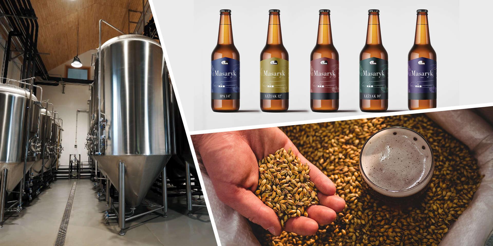 Prehliadka remeselného pivovaru Masarykov dvor s degustáciou živého piva