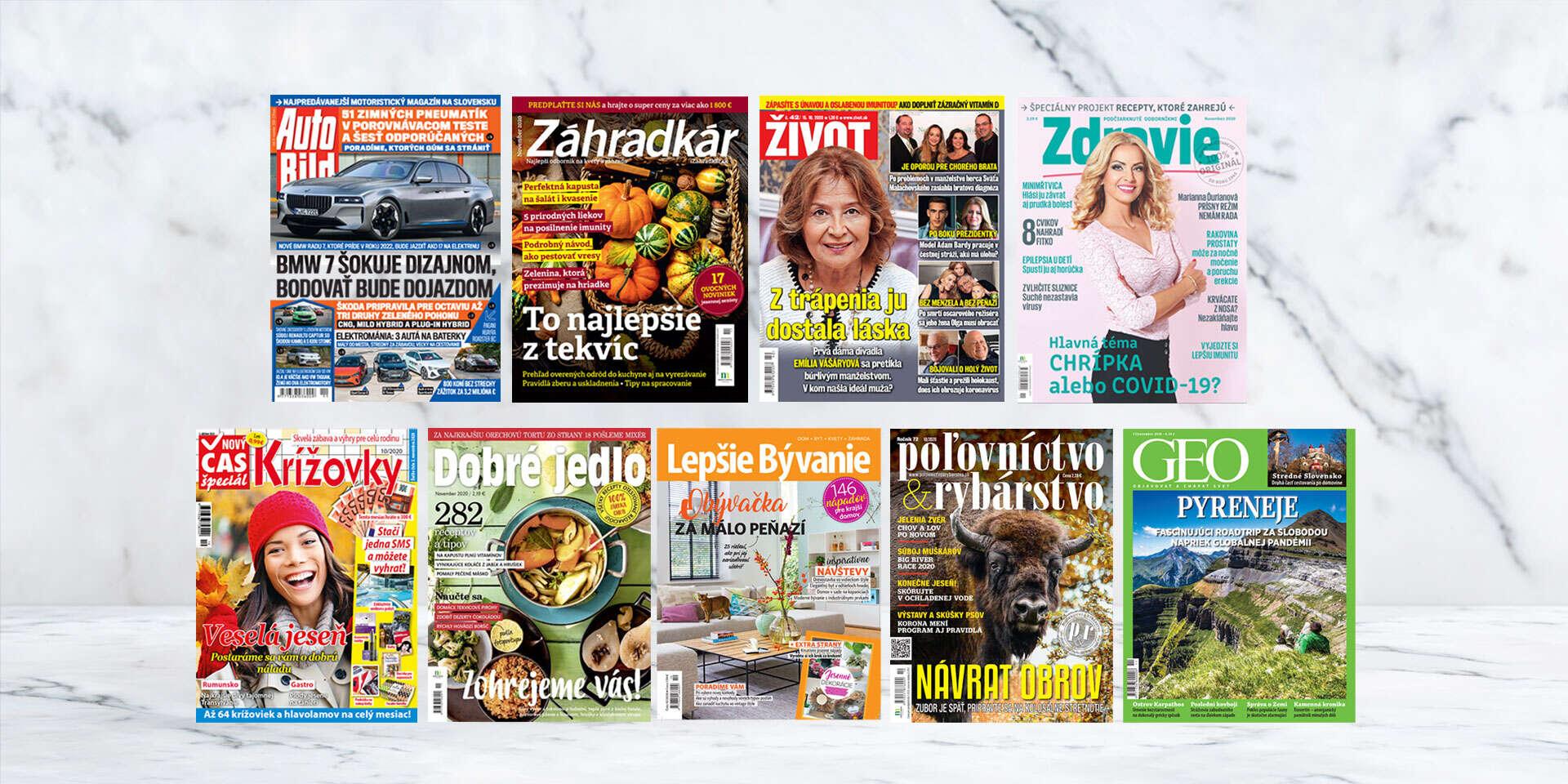 Ročné predplatné najobľúbenejších slovenských hobby titulov