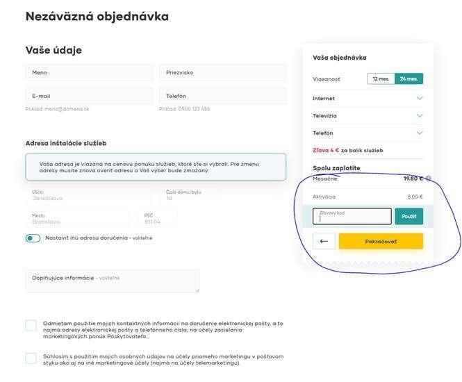 UPC Slovensko - zľava 2 € z mesačného poplatku na celé 2 roky p...