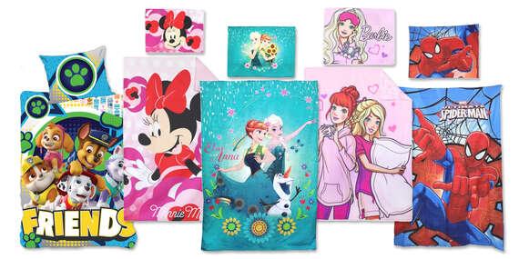 Súprava Disney obliečok pre deti zo 100 % bavlny (9 motívov)/Slovensko