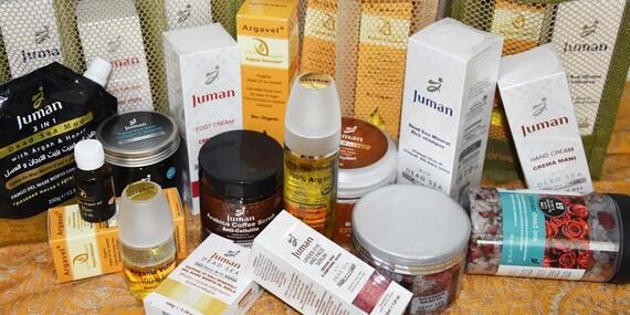 Kozmetika s výťažkami z prírody, Mŕtveho mora a bio arganovým olejom z Maroka/Slovensko