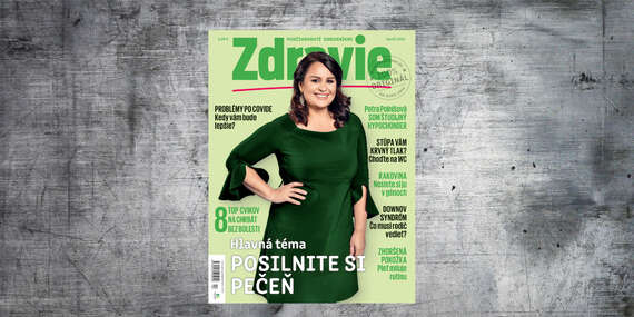 Ročné predplatné mesačníka ZDRAVIE/Slovensko